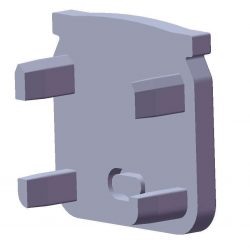 Végzáró ECO Beépíthető mély Profilhoz Szürke színű