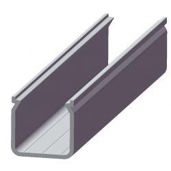 LED Alumínium Profil ECO U alakú mély Natúr 1 méter