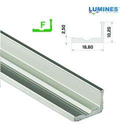 LED Alumínium Profil Keskeny L alakú [F] Ezüst 3 méter