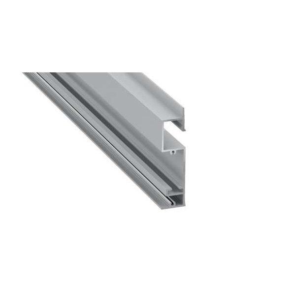 Led Alumínium Profil FLARO 1 méter Ezüst