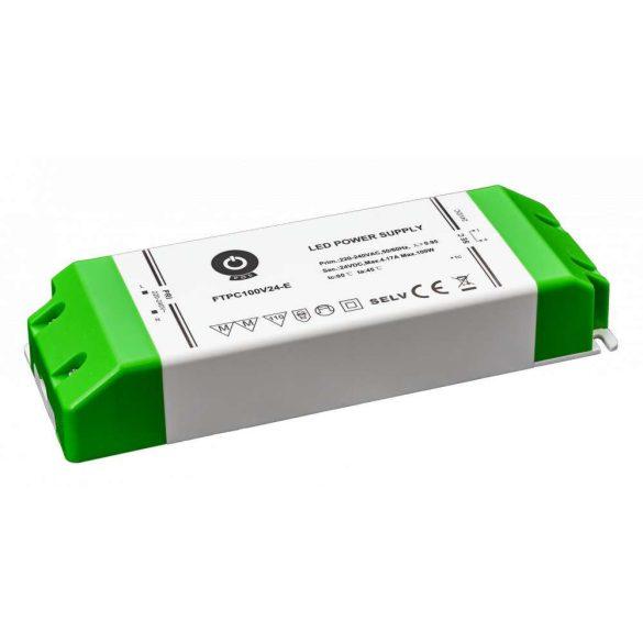 POS Led Tápegység FTPC100V24-E elsődleges DC oldali védelemmel 100W DC 24V 4,17A
