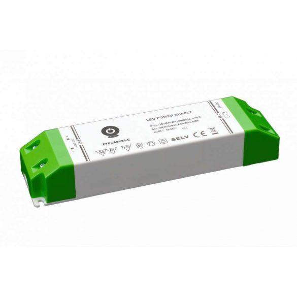 POS Led Tápegység FTPC60V12-E elsődleges DC oldali védelemmel 60W DC 12V 5A