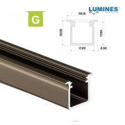 LED Alumínium Profil Beépíthető Mély [G] Bronz 1 méter