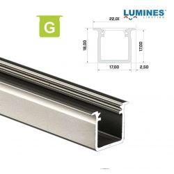 LED Alumínium Profil Beépíthető Mély [G] Natúr 3 méter