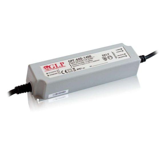 GLP Led tápegység GPF-D60-C2450 dimmelhető 58.8W 12-24V 2450mA