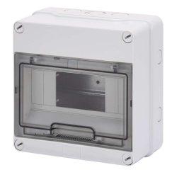 GEWISS GW40003 lakáselosztó 8 modulos falon kívüli átlátszó ajtóval IP55
