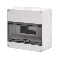 GEWISS GW40005 lakáselosztó 12 modulos falon kívüli átlátszó ajtóval IP55