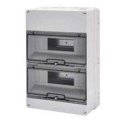 GEWISS GW40007 lakáselosztó 24 modulos falon kívüli átlátszó ajtóval IP55