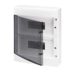 GEWISS GW40047BD elosztószekrény 24 modulos falon kívüli átlátszó ajtóval 80A 2x N/E sorkapocs IP40