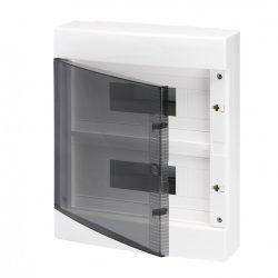 GEWISS GW40047BS lakáselosztó 24 modulos falon kívüli átlátszó ajtóval 80A N/E sorkapocs IP40
