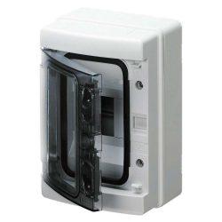 GEWISS GW40101 lakáselosztó 4 modulos falon kívüli átlátszó ajtóval IP65