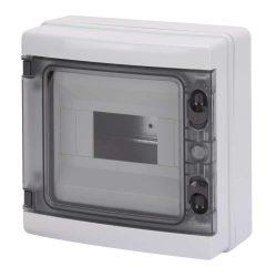 GEWISS GW40102BS lakáselosztó 8 modulos falon kívüli átlátszó ajtóval 80A N/E sorkapocs IP65