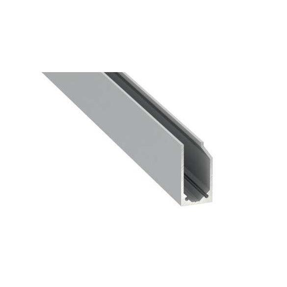 Led Profil I6 típus Ezüst 2 méteres alumínium