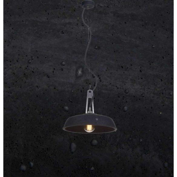 INDUSTRIOLA Beton Lámpa Fekete