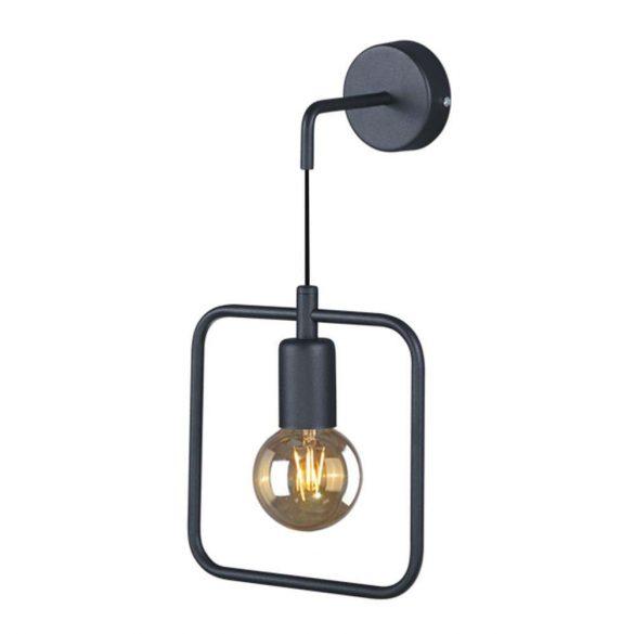 KAJA GEO szögletes fekete színű fali lámpa