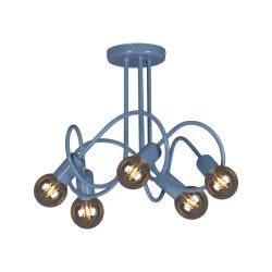 MALVA kék színű mennyezeti lámpa, 5xE27, IP20, max 60W/foglalat.