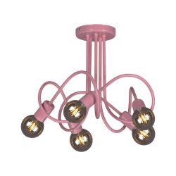 MALVA rózsaszín mennyezeti lámpa, 5XE27, IP20, max 60W/foglalat, 2 év garancia.