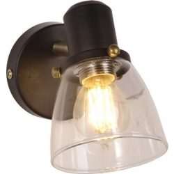 KAJA ELNIS A-1 fekete-arany színű fali lámpa