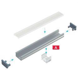 LUMINES Standard Led profil csomag Natúr 1 méter Víztiszta PMMA takaróval