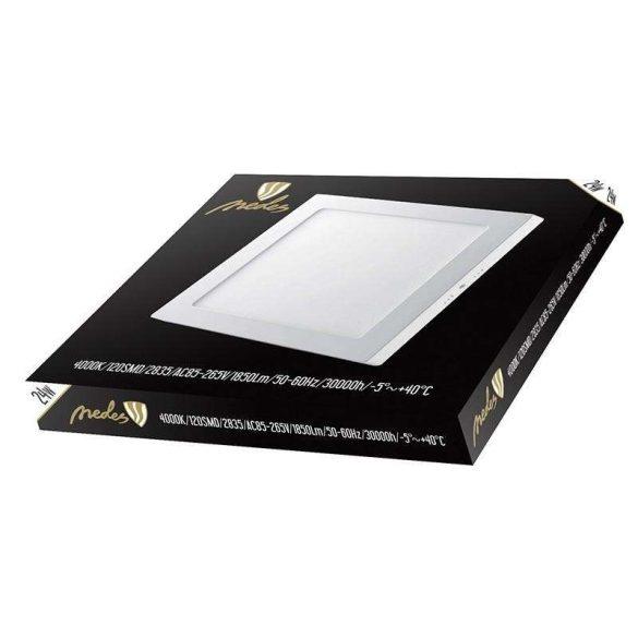 NEDES LEDES lámpa négyszögletes 24W természetes fehér - külső táppal