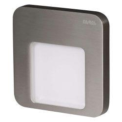 ZAMEL LEDES Kültéri Lépcső lámpa MOZA 14V Inox keret Meleg fehér