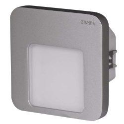 ZAMEL LEDES  Lépcső lámpa Beépíthető MOZA 14V Inox keret Meleg fehér