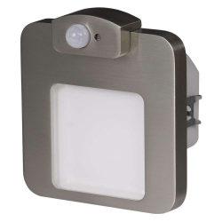 ZAMEL LEDES  Lépcső lámpa Beépíthető MOZA 230V Inox keret Meleg fehér Beépített érzékelővel