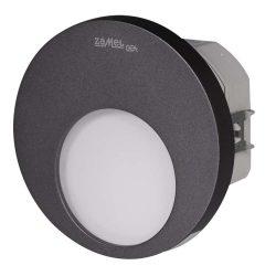 ZAMEL LEDES  Lépcső lámpa Beépíthető MUNA 230V Grafit keret Meleg fehér