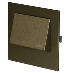 ZAMEL LEDES  Lépcső lámpa Beépíthető NAVI 14V Bronz keret Hideg fehér