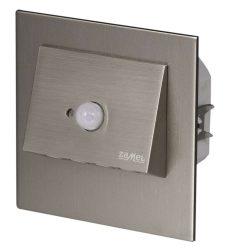 ZAMEL LEDES  Lépcső lámpa Beépíthető NAVI 230V Inox keret Meleg fehér Beépített érzékelővel