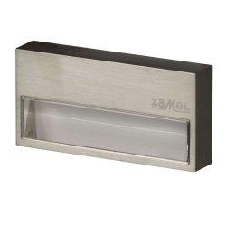 Zamel LEDES Beltéri Lépcső és Oldalfali lámpa SONA 14V Inox keret nélküli Meleg fehér