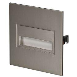 ZAMEL LEDES  Lépcső lámpa Beépíthető SONA 14V Inox keret Meleg fehér