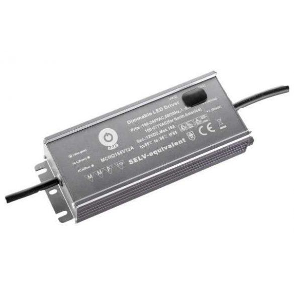 POS Led tápegység MCHQA-185-12 185W 12V 14A IP65 dimmelhető