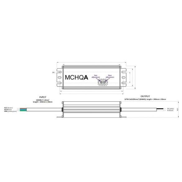 POS Led tápegység MCHQA-80-12 80W 12V 6.7A IP65 dimmelhető