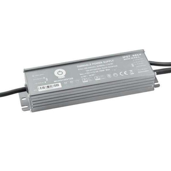 POS Led tápegység MCHQB-185-12 168W 12V 14A IP67 dimmelhető