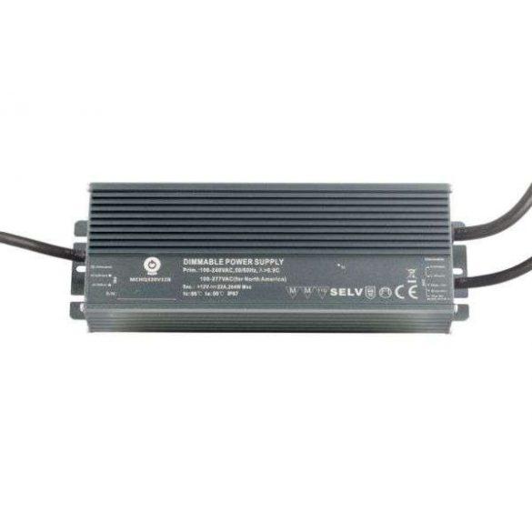 POS Led tápegység MCHQB-600-24 600W 24V 25A IP67 dimmelhető