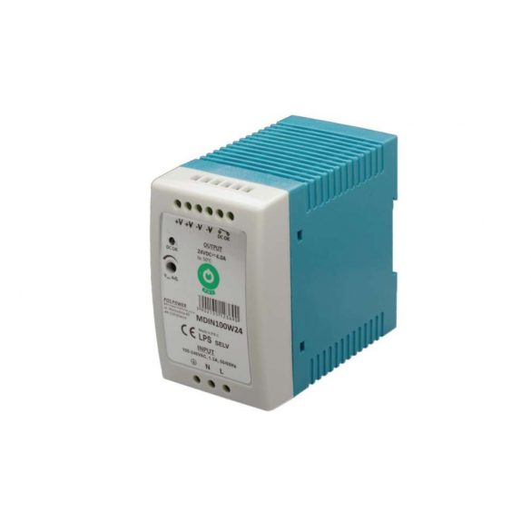 POS Led tápegység MDIN-100-12 90W 12V 7.5A