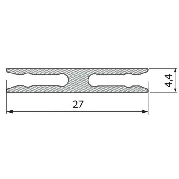 Alumínium Szerelőprofil METRO 1 méter Ezüst