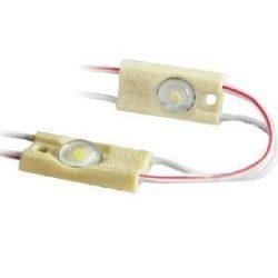 Led modul, 12V, 0,72W, IP67, hideg fehér 6000-7000K, 1x2835 led, 5 év garancia.