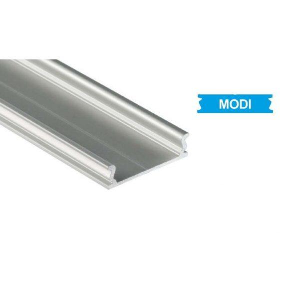 Ezüst Alumínium El-Takaró profil Széles Led profilokhoz 1 méteres