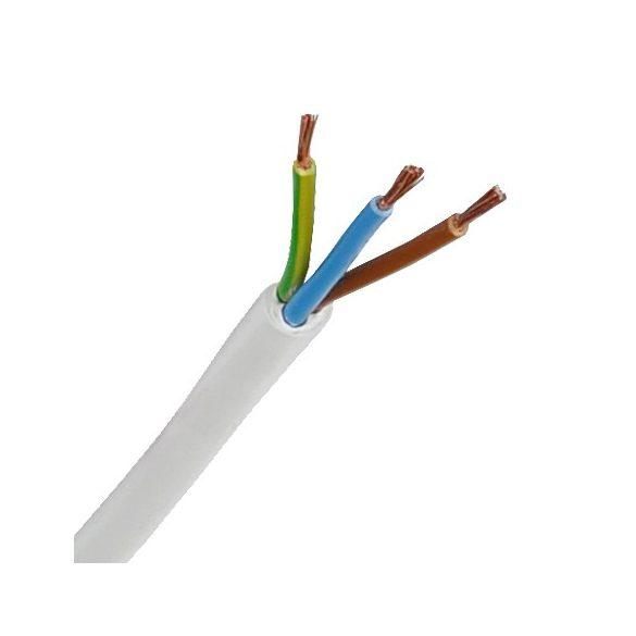 MT 3x0,75mm2 sodrott réz erű kábel. PVC szigeteléssel. H05VV-F 3x0,75