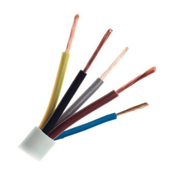 MT 5x1,5mm2 sodrott réz erű kábel, PVC szigeteléssel. H05VV-F 5x1,5