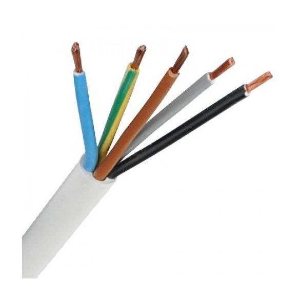 MT 5x2,5mm2 sodrott réz erű kábel, PVC szigeteléssel