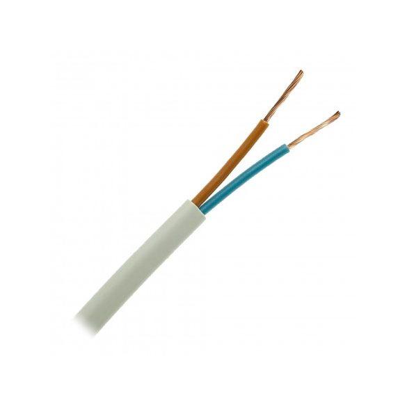 MTL 2x0,75mm2 sodrott réz vezetővel, PVC szigeteléssel. H03VVH2-F 2x0,75