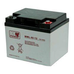 MW Power AGM akkumulátor 40Ah 12V