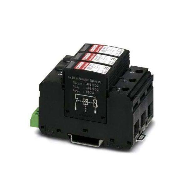 Phoenix Contact Napelemes T1/T2 típusú villámáram-/túlfeszültség-levezető - VAL-MS-T1/T2 600DC-PV/2+V