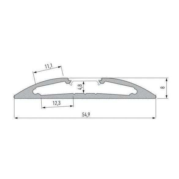 LED Alumínium Profil RETO Natúr 1 méter