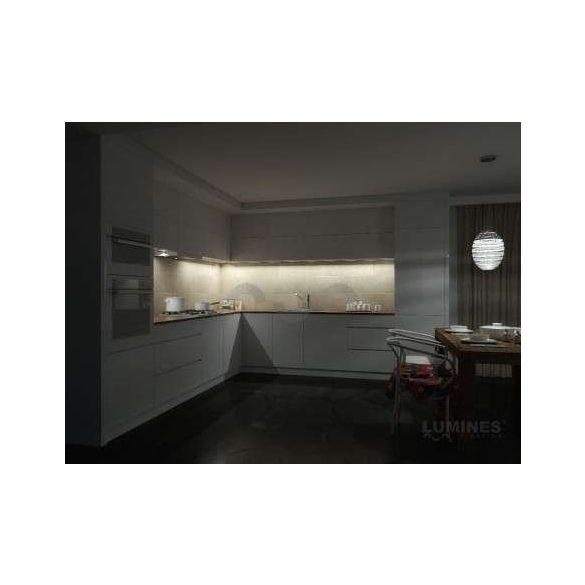 LED Alumínium Profil RETO Fekete 1 méter