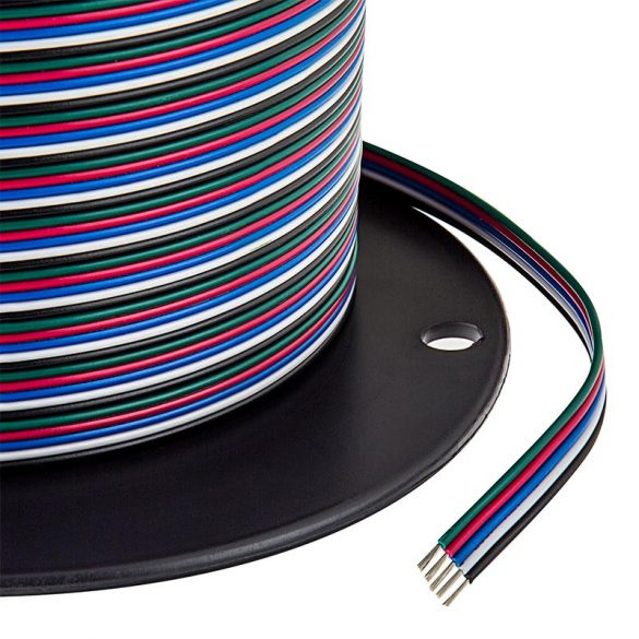 RGBW led szalag betáp vezeték 5x0,32mm2