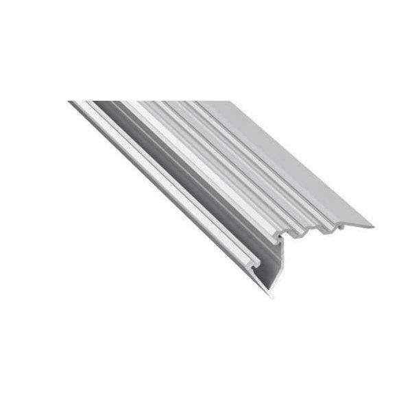 Led Alumínium Lépcső Profil SCALA 2 méter Ezüst